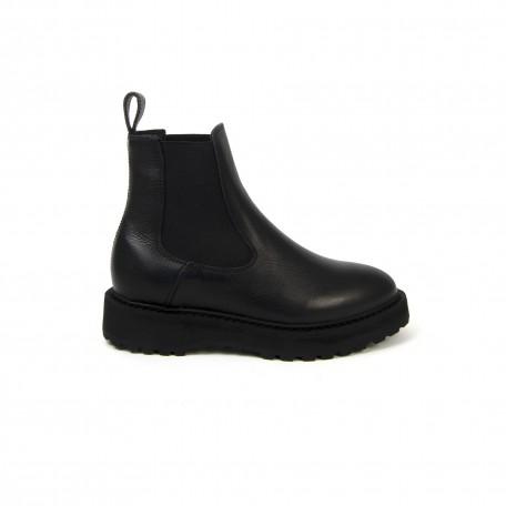 Alberone Chealsea Boot  Black Leather