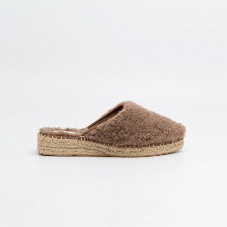 Naguisa Ile taupe slipper